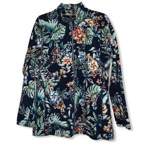 Tommy Bahama tropical floral print jacket XL